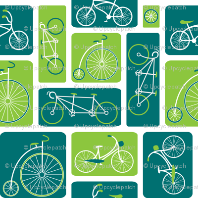 Retro Bicycle Love (Green) - by ebygomm