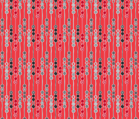 Mod Beads (Thames Night) fabric by leighr on Spoonflower - custom fabric