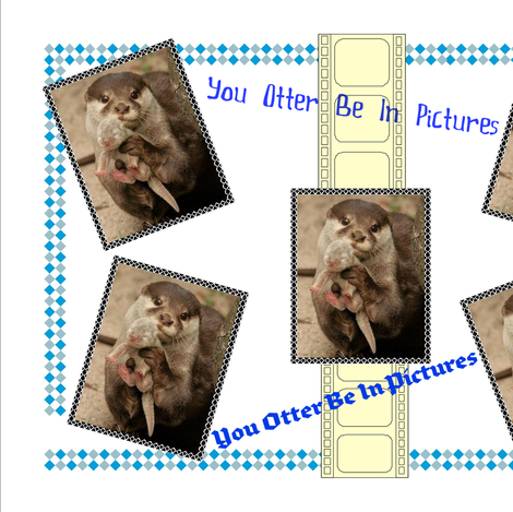 You Otter Be In Pictures! fabric by wickedgarden on Spoonflower - custom fabric