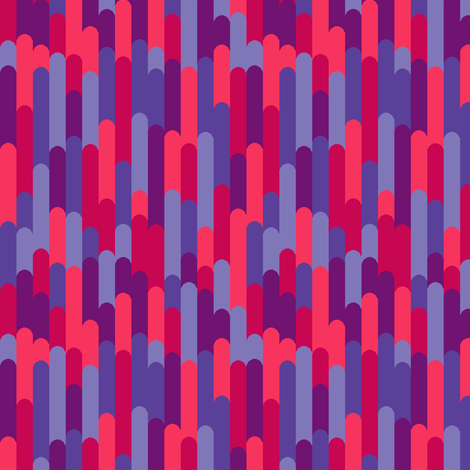 Mod Rays (Piccadilly Punch) fabric by leighr on Spoonflower - custom fabric