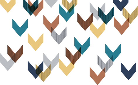 Chevrons Falling Apart fabric by stephanie on Spoonflower - custom fabric