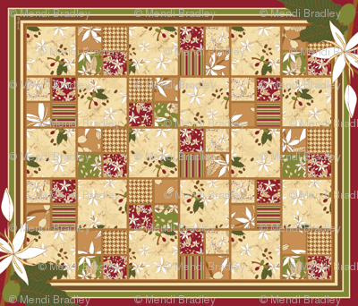 Coffee Arabica Cheater quilt