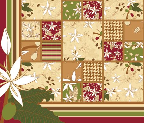 Coffee Arabica Cheater quilt fabric by mysteek on Spoonflower - custom fabric