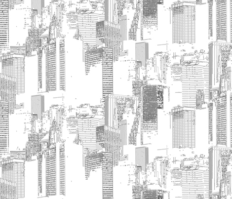 NYC Light fabric by chris on Spoonflower - custom fabric