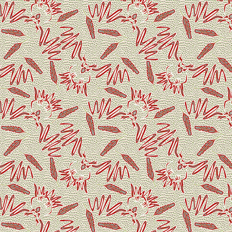 inflight owl fight 2 fabric by glimmericks on Spoonflower - custom fabric