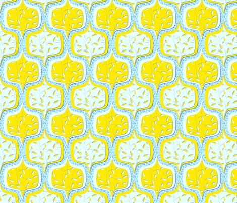 moderne lemon ciel fabric by glimmericks on Spoonflower - custom fabric