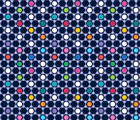 Graphene on Navy fabric by spellstone on Spoonflower - custom fabric