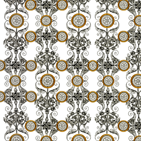 Silver And Gold fabric by whimzwhirled on Spoonflower - custom fabric