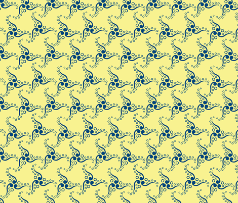 Spinner Chick fabric by glimmericks on Spoonflower - custom fabric