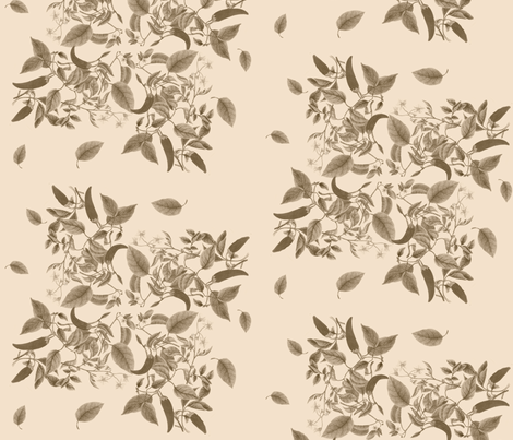 Sepia Leaves and Peppers fabric by policunha on Spoonflower - custom fabric