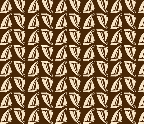 Sailboat in Chocolate fabric by kellyw on Spoonflower - custom fabric