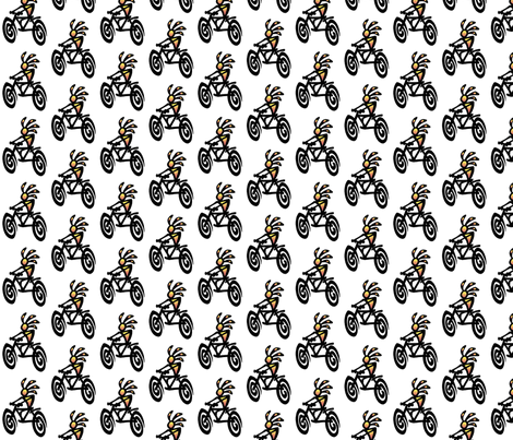 kokopelli_bike fabric by nickmcmom on Spoonflower - custom fabric