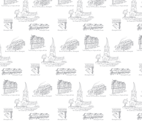 Grey Toile of Chesterfield fabric by squeakyangel on Spoonflower - custom fabric