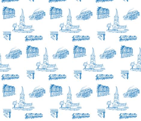 Chesterfield in Blue fabric by squeakyangel on Spoonflower - custom fabric