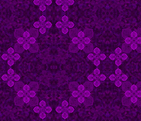 Violet flower fabric by kirpa on Spoonflower - custom fabric