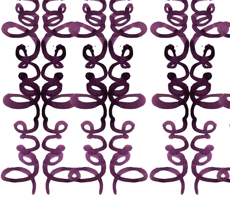 cestlaviv_tat love basic cursive fabric by cest_la_viv on Spoonflower - custom fabric