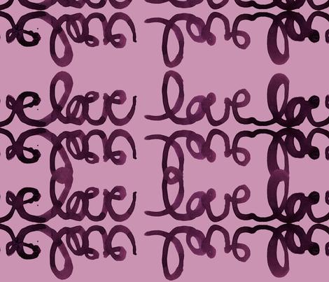 cestlaviv_tat love plum on plum fabric by cest_la_viv on Spoonflower - custom fabric