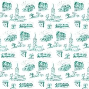 Chesterfield Toile in Green