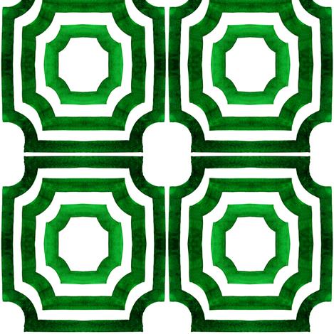 viv_LatticeShadows_original_EmeralcCity fabric by cest_la_viv on Spoonflower - custom fabric