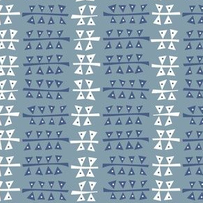 Triangulated (Blue)