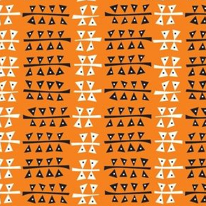 Triangulated (Orange)