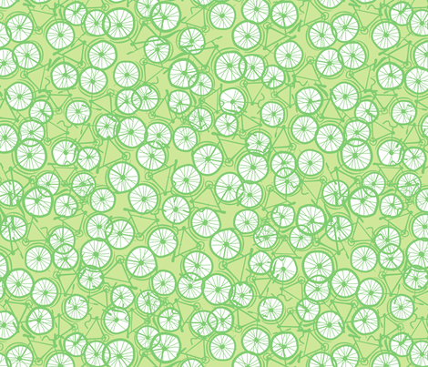 Baby Bicycle Limegreen fabric by spellstone on Spoonflower - custom fabric