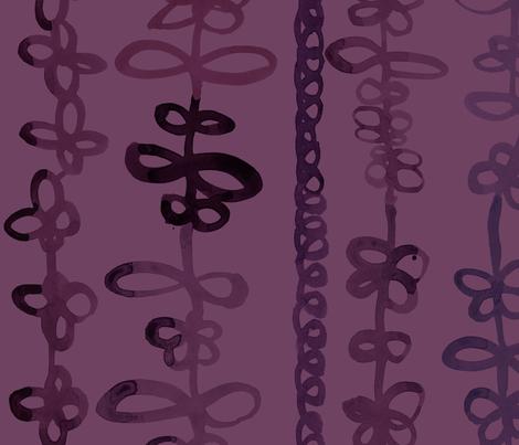 viv_tat stripes plum on plum fabric by cest_la_viv on Spoonflower - custom fabric