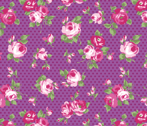 roses fabric by minimiel on Spoonflower - custom fabric