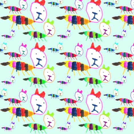 Bea Kitty Kitty fabric by handmadepretties on Spoonflower - custom fabric