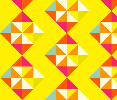retro diamond fabric by fable_design on Spoonflower - custom fabric