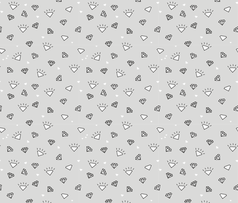 ditsy diamond doodle fabric by owls on Spoonflower - custom fabric