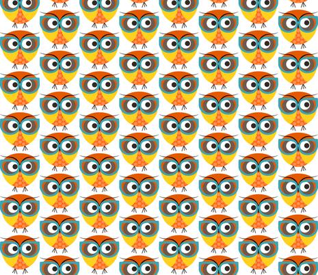 Geeky Owl Color fabric by natitys on Spoonflower - custom fabric