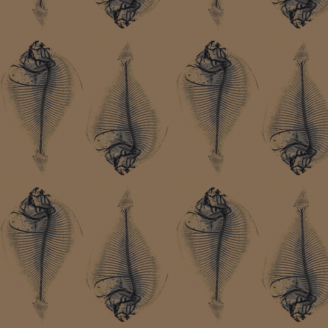 fishbone repeat; clay bed fabric by nalo_hopkinson on Spoonflower - custom fabric