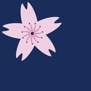 Cherry Blossom on Navy