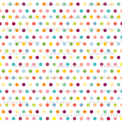 Spring Whimsy: Ikat Dots