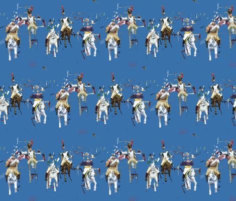 Deconstructed Horsemen fabric by susaninparis on Spoonflower - custom fabric