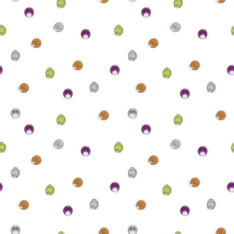 sleepy_nocturnal_polka_dot fabric by owls on Spoonflower - custom fabric