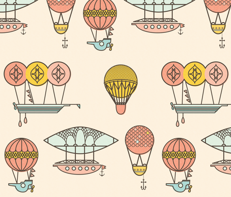 darling dirigible fabric by annaboo on Spoonflower - custom fabric