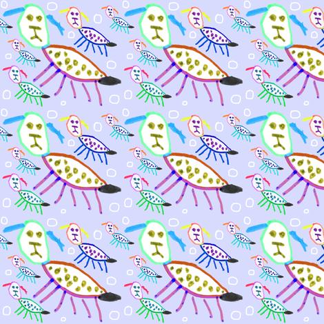 Bea Puppy Puppy - Lilac fabric by handmadepretties on Spoonflower - custom fabric