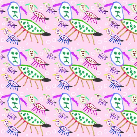 Bea Puppy Puppy - Pinky fabric by handmadepretties on Spoonflower - custom fabric