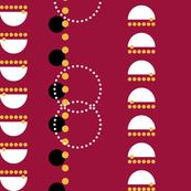 Pohutukawa Stripes & Spots (Red)