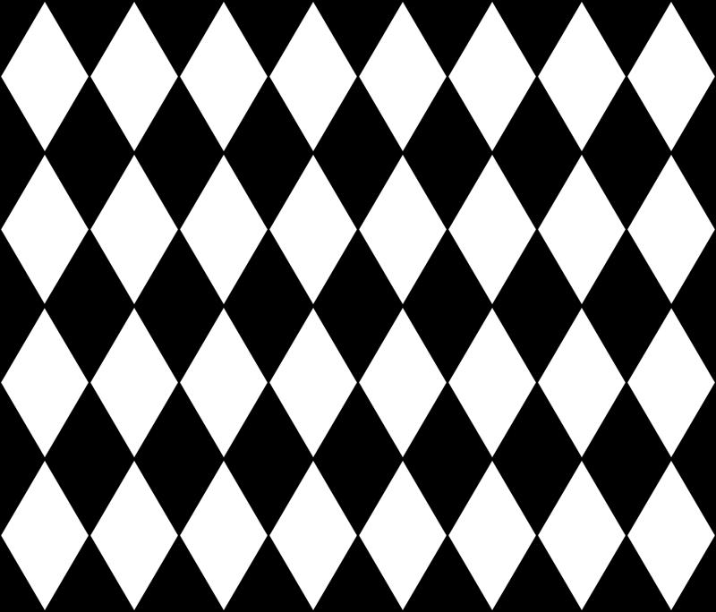 Harlequin Diamonds Black White Small Wallpaper