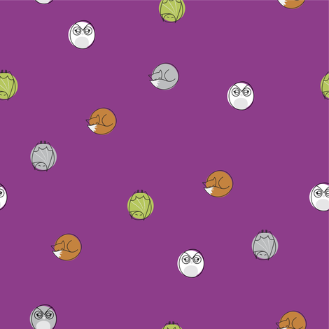 sleepy_nocturnal_big_dots_purple fabric by owls on Spoonflower - custom fabric