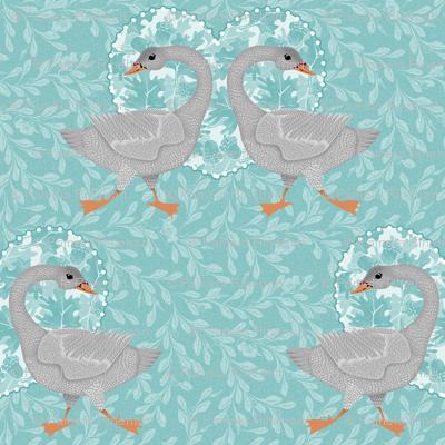 teal grey goose