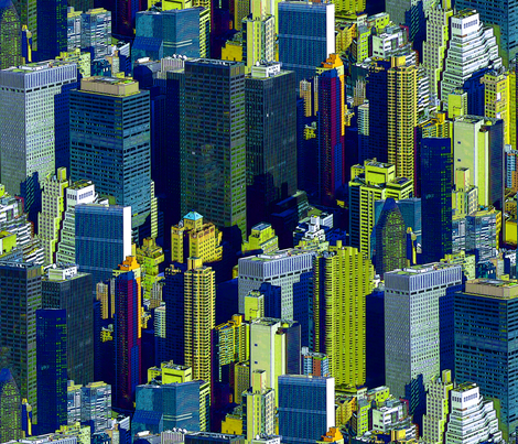 NYC Brilliant fabric by chris on Spoonflower - custom fabric
