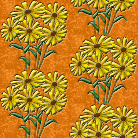 gold flowers fabric by krs_expressions on Spoonflower - custom fabric
