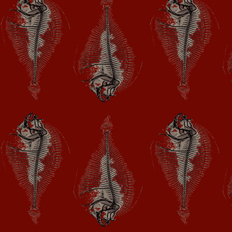 sardines in tomato sauce fabric by nalo_hopkinson on Spoonflower - custom fabric