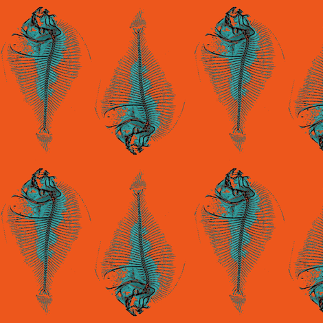 fishbone repeat, flambe fabric by nalo_hopkinson on Spoonflower - custom fabric