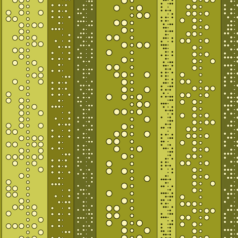 Punch Tape (in greens) fabric by meduzy on Spoonflower - custom fabric