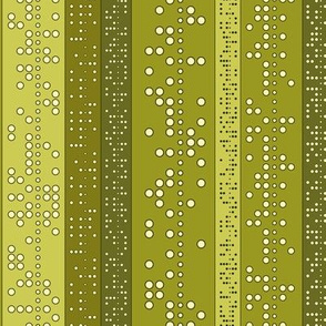 Punch Tape (in greens)